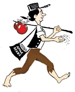 the johnny appleseed approach to life andrea kihlstedt rh andreakihlstedt com johnny appleseed day clipart johnny appleseed clipart black and white