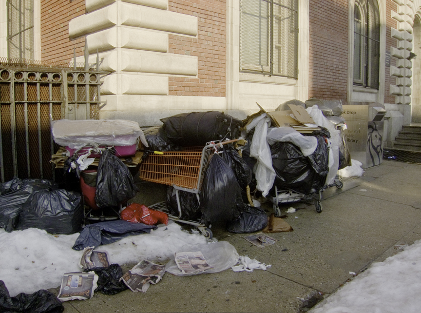 Sidewalk trash