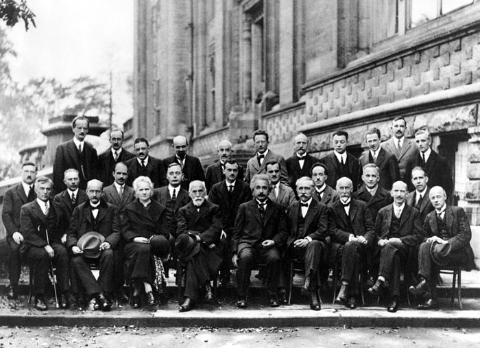 29 physicists  at the 1927 Solvay Conference